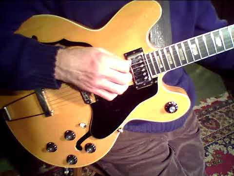 Gibson ES-150 DC Natural - Demo (using Polytone Amp)