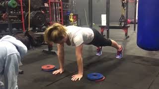 Plank with Weight Stack Transfer