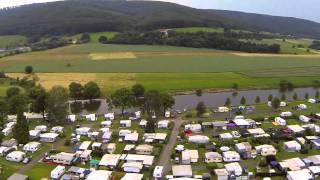 Campen am Fluss Oedelsheim - Flug über unseren Campingplatz mit einer Videodrohne