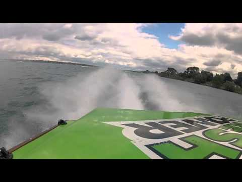 St. Clair, Mi. OPA class 6 Offshore race onboard BAD NEWZ