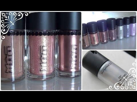My MAC Pigment Collection & Swatches