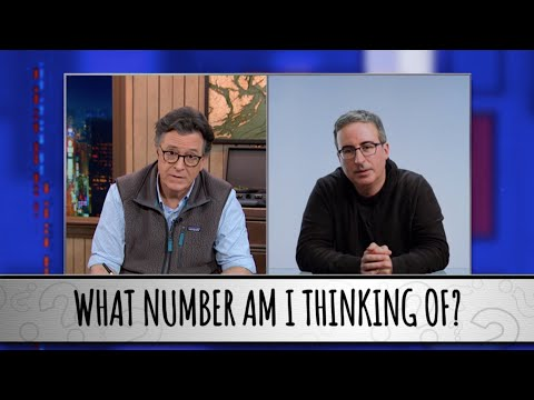 John Oliver Takes The Colbert Questionert