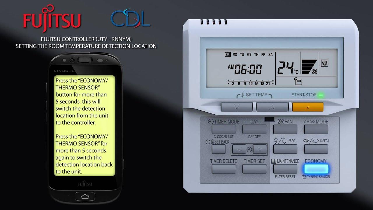 Video 101 - Fujitsu UTYRNNYM Setting temperature detection location
