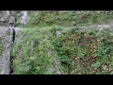 黒部峡谷 下ノ廊下「水平歩道」をドローンで空撮!