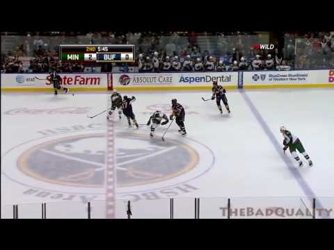 Torres hits Clutterbuck, then Boogaard tries to kill Montador