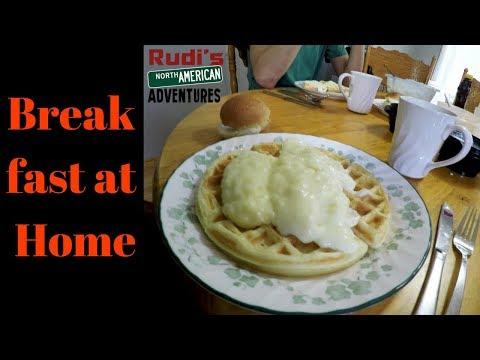 Breakfast at Home Rudi's NORTH AMERICAN ADVENTURES 10/21/17 Vlog#1228