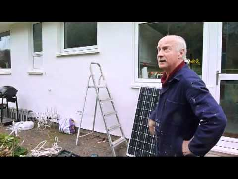 How to get free hot water using a solar panel.