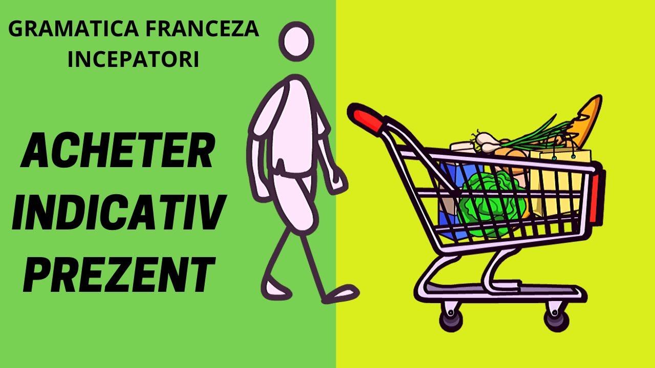 Conjugarea verbului ACHETER la indicativ prezent si doua retete ( Franceza online 2020)