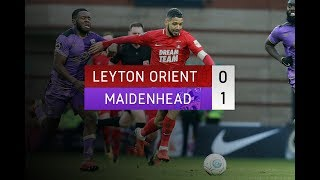 HIGHLIGHTS: Leyton Orient 0-1 Maidenhead United