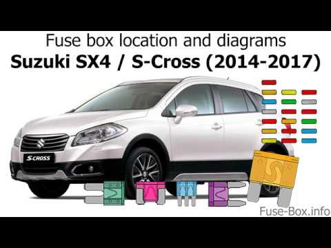Fuse box location and    diagrams     Suzuki    SX4        S      Cross     20142017   YouTube