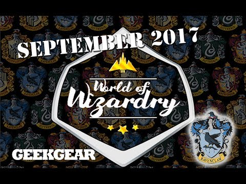 Harry Potter : September 2017 World of Wizardry GeekGear Monthly Subscription Box : Ravenclaw
