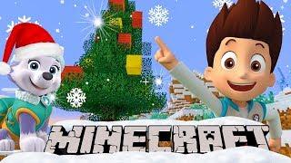 НОВЫЙ ГОД в МАЙНКРАФТ - Щенячий Патруль играет в снежки и украшает новогоднюю ёлку - мультики