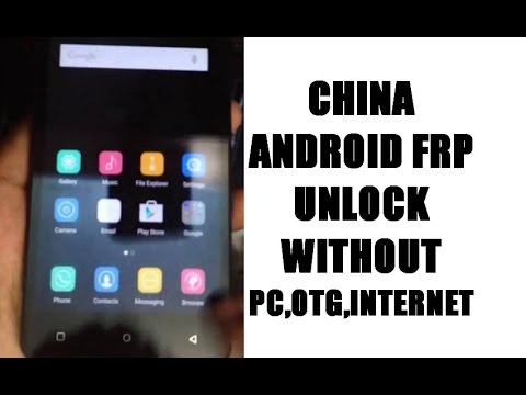 China android frp unlock solution without internet whthout otg without apk