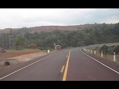 Smooth nice road in Mondulkiri province, the kingdom of Cambodia