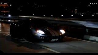 辰巳出撃 Ferrari F40 Audi R8 のすごい加速! 希少車Ford GTの走...