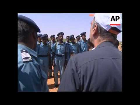 UN envoy Erick de Mul tours camp in the northern Darfur