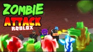 Playing the coolest game that the Zombie Rush [Roblox Zombie Attack] EP 1