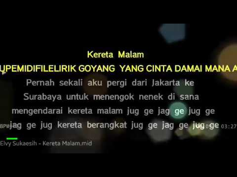 Karaoke Kereta Malam - Elvy Sukaesih no Vocal
