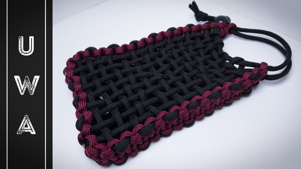 How to make a phone sized paracord pouch uwa original for How to make a paracord bag