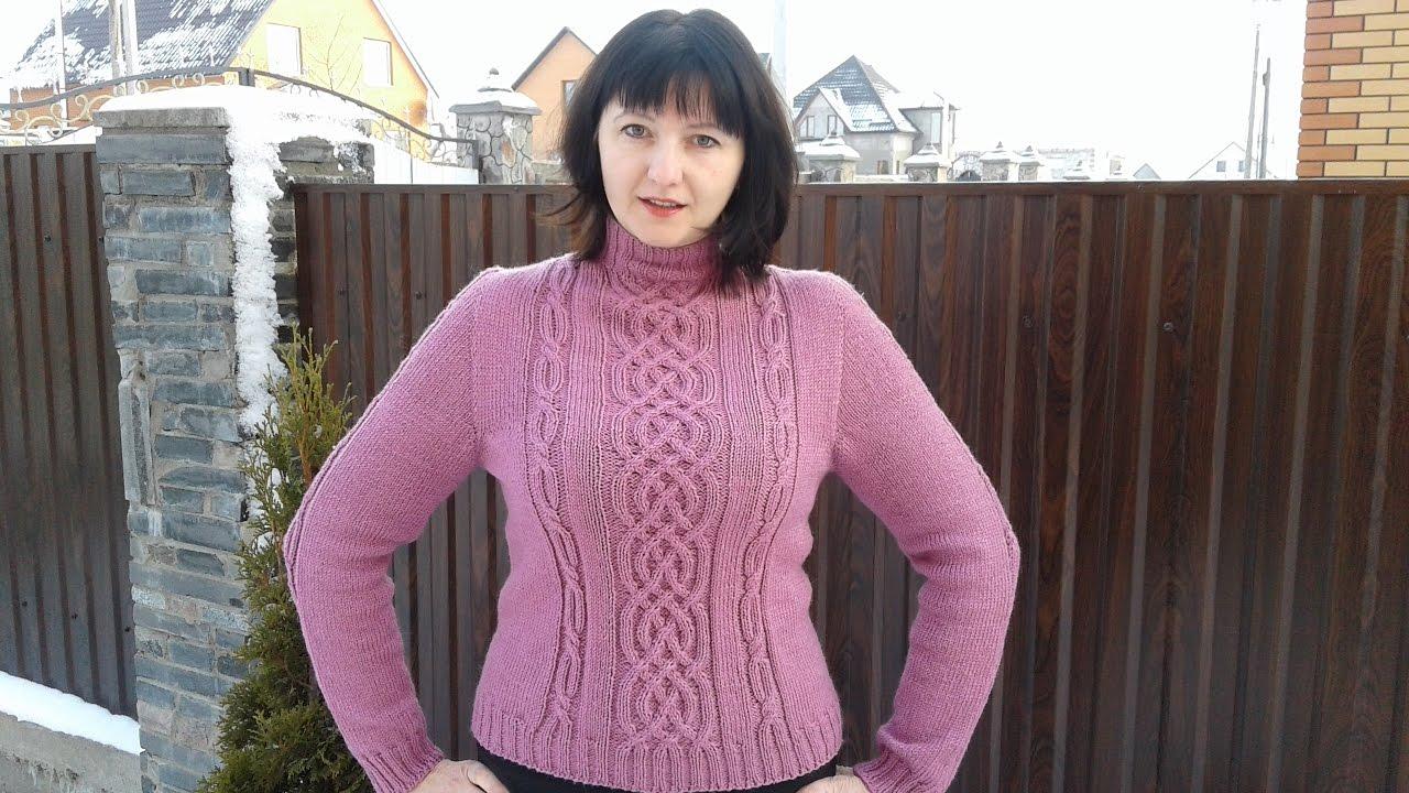 Ютуб вязание на спицах свитера 99