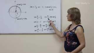 44. Тригонометрия на ЕГЭ по математике. Обратные тригонометрические функции. Арккосинус.