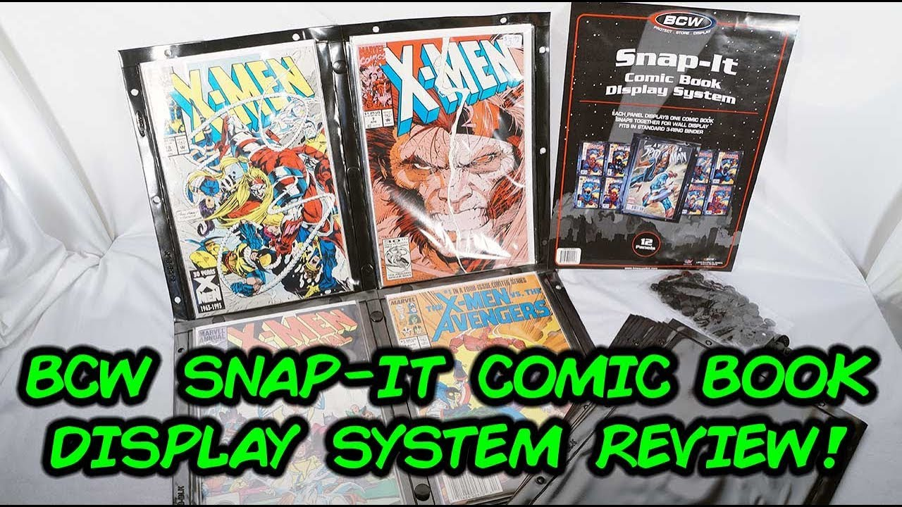 bcw snap it comic book wall display system review comic vantage youtube. Black Bedroom Furniture Sets. Home Design Ideas