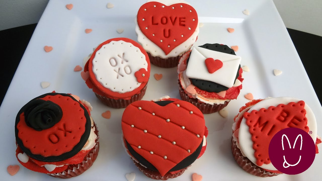 Valentine S Day Cake Decorations : Valentine Fondant Decorations Cupcakes Bunnyluscious ...