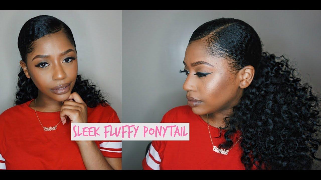 Easy Sleek Fluffy Ponytail Using Freetress Crochet Hair