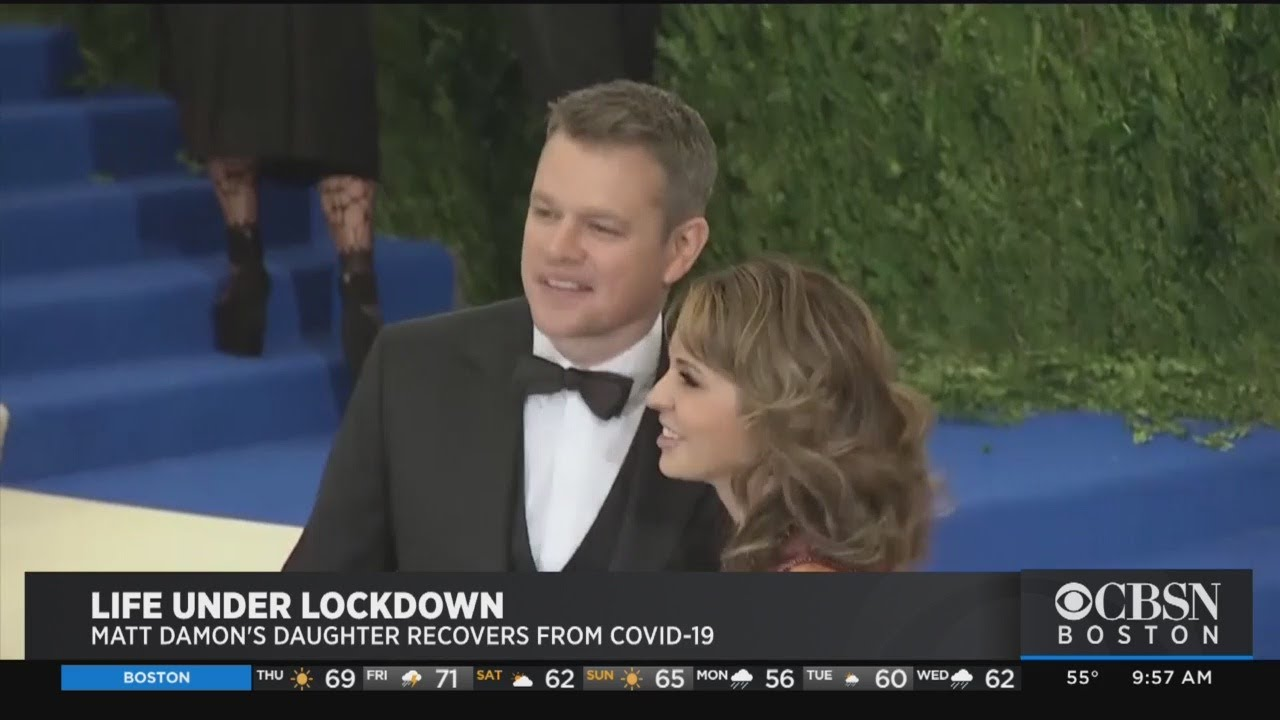 Cambridge Native Matt Damon In Lockdown With Family In Ireland