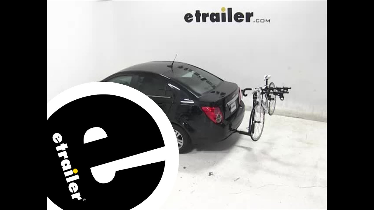 Review Of The Thule Hitching Post Pro Hitch Bike Rack On A 2017 Chevrolet Sonic Etrailer Com