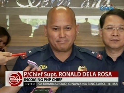 Napiling PNP chief ni Duterte na si C/Supt. Dela Rosa, wala raw sasantuhin sa laban sa droga