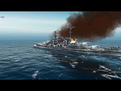 Atlantic Fleet 1 H-39 Battleship vs 10 Battleships
