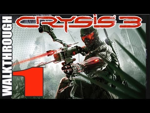 1 Crysis 3: Walkthrough pt 1 Breach Cell Staging Area Enter Liberty Dome Lets Play Gameplay (HD)