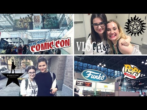 VLOG  New York Comic Con Day 1  Meeting Rachel Miner, Phillipa Soo and more!