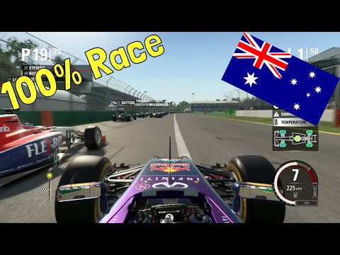 F1 2015 - 100% Race at Albert Park, Melbourne, Australia in Ricciardo's Red Bull