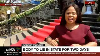 Robert Mugabe | Body to lie in state for two days