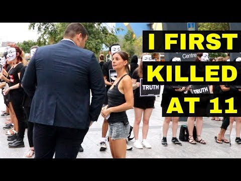 VEGAN WOMAN CONFRONTS HUNTER!