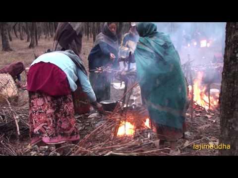native practice to make dry meat    village food    village life   