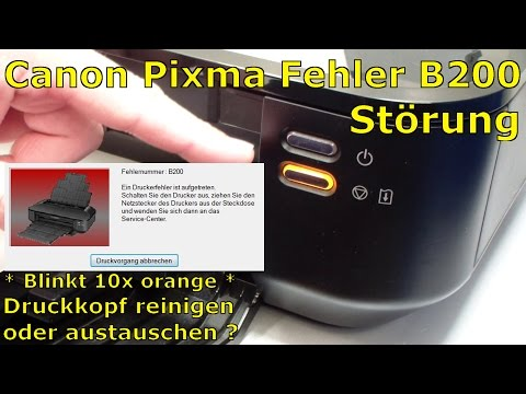 Canon Pixma B200 error fix - different problems