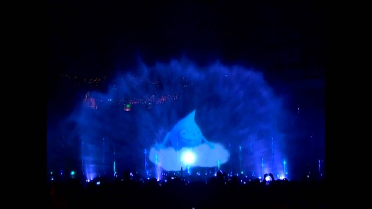 Medellin Columbia Video Projection Show On Water Youtube