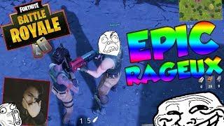 OMG ! EPIC RAGEUX SUR FORNITE ! (A VOIR) ! 100% TROLL/FUN