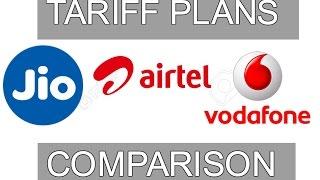 Tariff Plans: Reliance Jio vs Airtel vs Vodafone | Digit.in