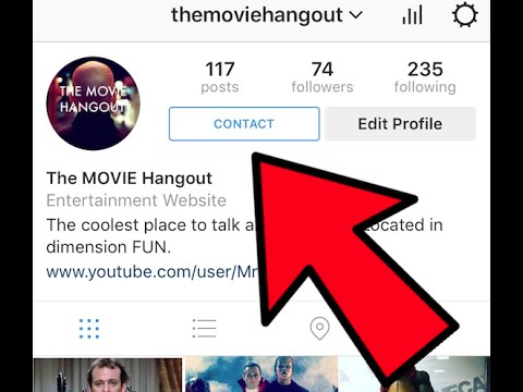 How To Put A Contact Button On Your Instagram Page Youtube