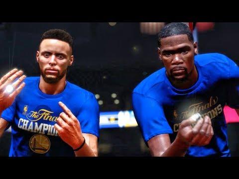 WARRIORS RING CELEBRATION IN NBA DEBUT! NBA 2K18 My Career Gameplay Ep. 2