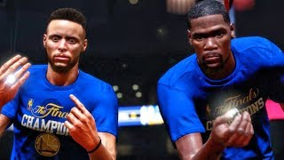 WARRIORS RING CELEBRATION IN NBA DEBUT! NBA 2K18 My Career Gameplay Ep. 2