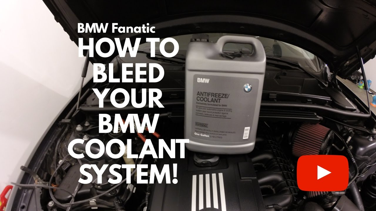 how to bleed your bmw n54 135i 335i 535i coolant system! youtube
