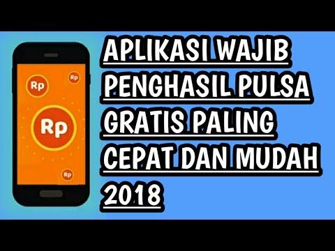 WAJIB DOWNLOAD !!! APLIKASI PENGHASIL PULSA GRATIS PALING CEPAT DAN MUDAH 2018