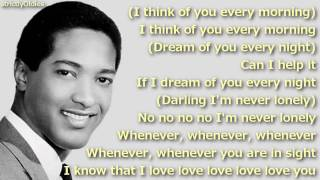 Sam Cooke (I Love You) For Sentimental Reasons lyrics