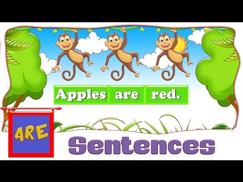 """Read and Listen to Sentences using the Word """" are """"      are sentences"""