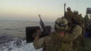 US Navy 5th Fleet Riverine Boat Gun Shoot
